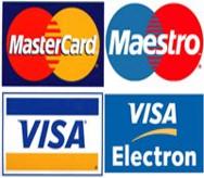 Оплата банковской или кредитной картой